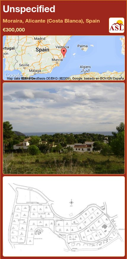Unspecified in Moraira, Alicante (Costa Blanca), Spain ►€300,000 #PropertyForSaleInSpain