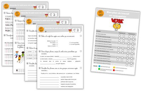Plan de travail - Fichier de conjugaison CE1-CE2