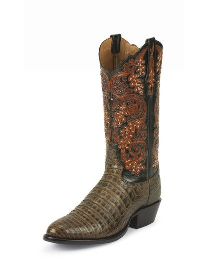 Men's Pecan Belly Antique Caiman Boot