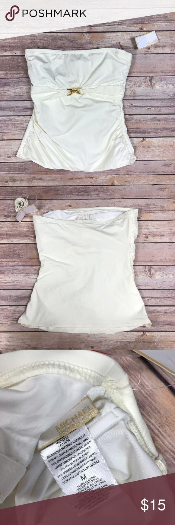 "Michael kors  cream tankini bandini  NWT Michael kors women's size medium cream tankini bandini underwire and detachable straps NWT   armpit to armpit 13.5"" length 14"" MICHAEL Michael Kors Swim Bikinis"