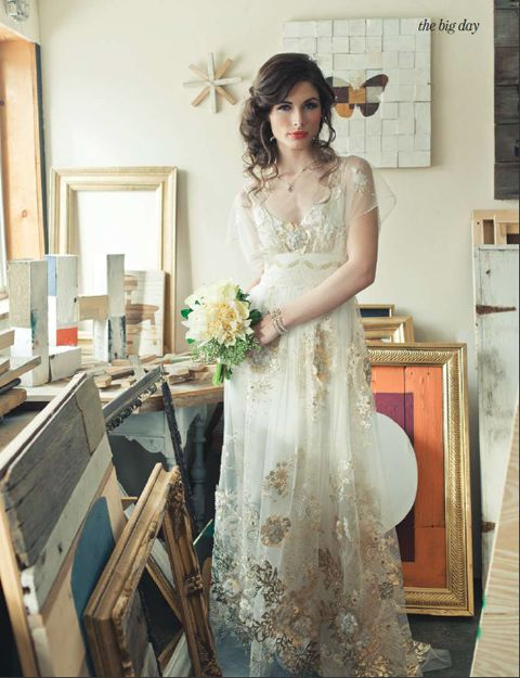 Claire Pettibone Madame Butterfly gown - vintage - garden - boho wedding - look at the detailing on that dress!!