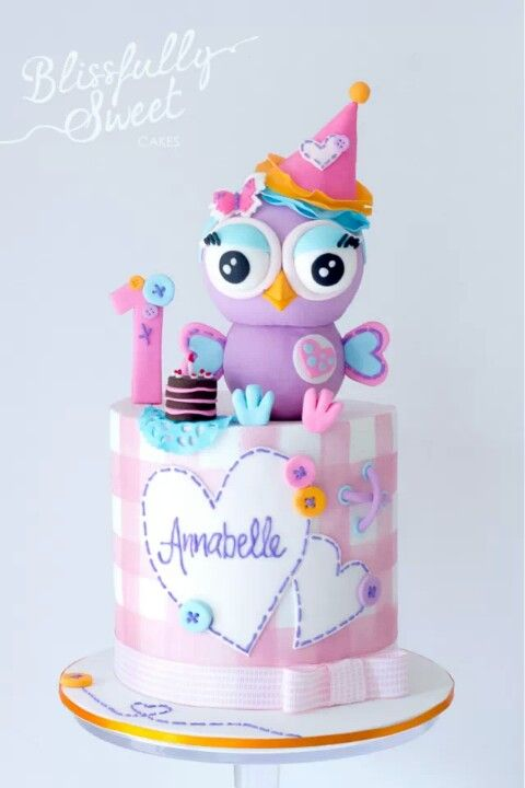 Owl Cake. I can't wait till this November a little angel I adore named Cambrie turns 1 year old :) and you know this Grammy's gonna make a cake that will be awesome!