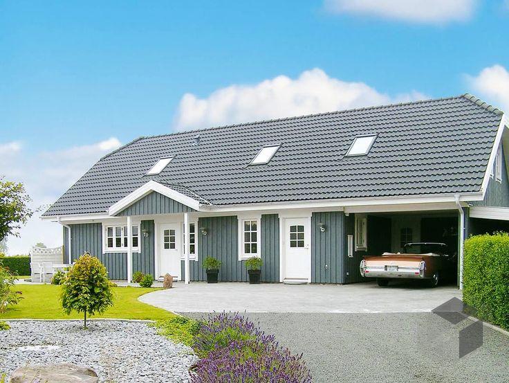 Oslo - Holzhaus im skandinavischen Stil von Danhaus Wohnfläche gesamt159,30 m² Zimmeranzahl7  Doppelhaus, Zweifamilienhaus, Haustypen, Barrierefrei, Hausbau, Luxushaus, Familienhaus  www.fertighaus.de