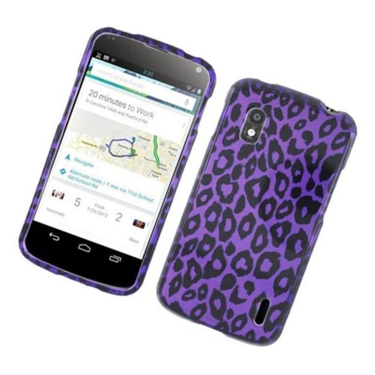 Insten Leopard Hard Snap-on Glossy Case Cover For LG Google Nexus 4 #2318956