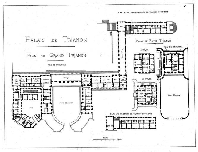 231 best versailles le petit trianon bd13 images on for Plan trianon salle