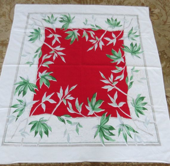 Vintage 1940s/1950s Tropical Tablecloth by PrairieVintageFinds