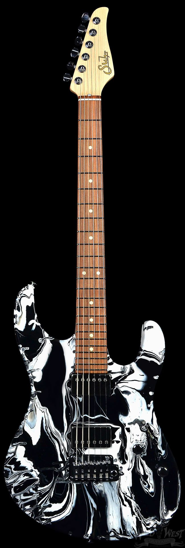 Suhr Modern Custom Black and White Twisted Drip