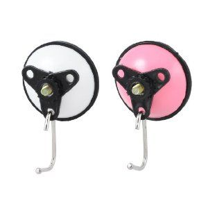 """Amico 2 Pcs White Pink Suction Cup Hook Hangers for Bathroom Family by Amico. $3.89. Total Length : 6cm/ 2.4"""";Net Weight : 30g. Product Name : Suction Cup Hook;Main Material : Plastic; Rubber; Metal. Load : 2.0Kg;Color : Pink; White, Black. Suction Diameter : 5.3cm / 2.2"""";Thread Diameter : 5mm/ 0.2"""". Package Content : 2 x Suction Cups Hooks. Install these suction cup hooks in your bathroom or kitchen room. Hang brush, towel and so on. The set of suction cup hooks ca..."""