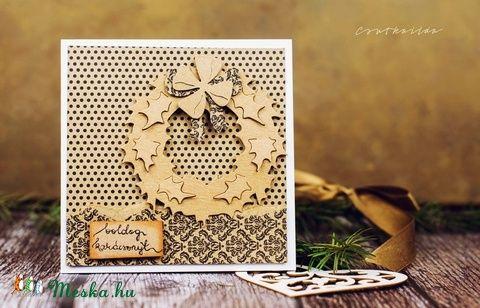 Karácsonyi képeslap (csutkababa) - Meska.hu