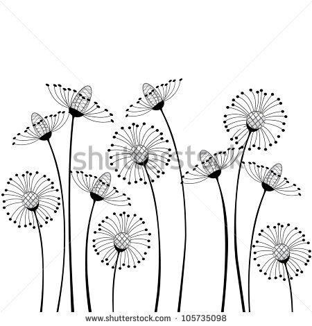 Meadow Flowers On White Background Lager vektorillustration 105735098 : Shutterstock
