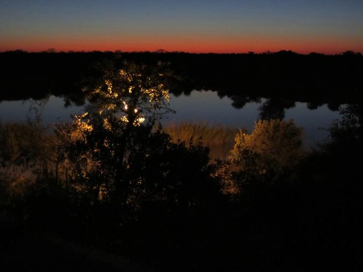 Modumela Lodge, Botswana , African sunset