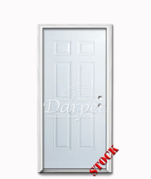 6 Panel Steel Exterior Door 6-8   Darpet Interior Doors for Chicago Builders