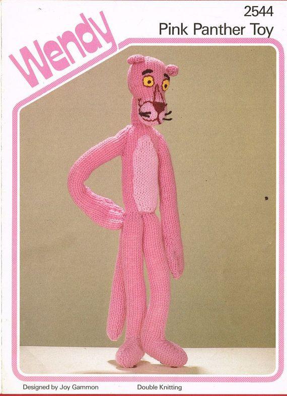 Wendy 2544 Pink Panther  vintage toy knitting  by Ellisadine, £1.25