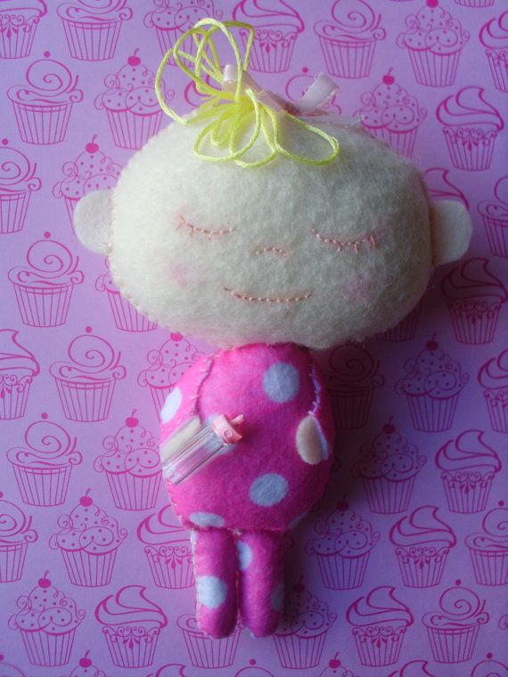 Plush Blonde Baby Doll Stuffed Soft Softie Plushie by MyWillies
