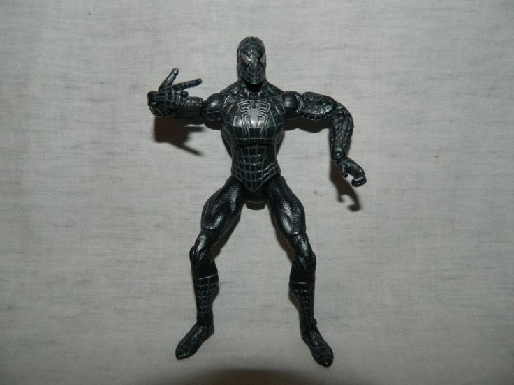 """Spiderman 3 Black Costume outfit Suit Super Poseable 5"""" action figure hasbro #Hasbro"""