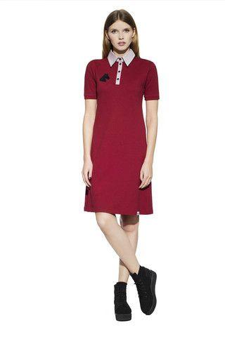"""Horse head label"" uniform bright polo dress"