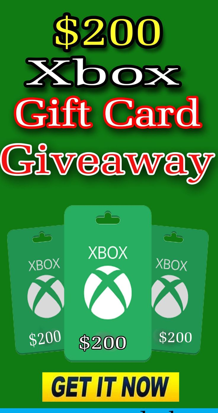 Free xbox gift card giveaway 2020 in 2020 xbox gift card