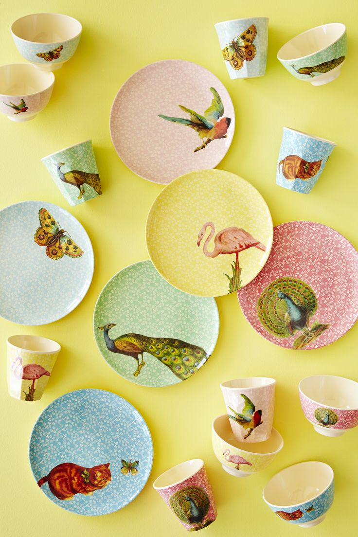 Beautiful delicate colours and a pretty prints from the new Rice collection. It's made from melamine yet it looks like fine porcelain. Pretty and practical!