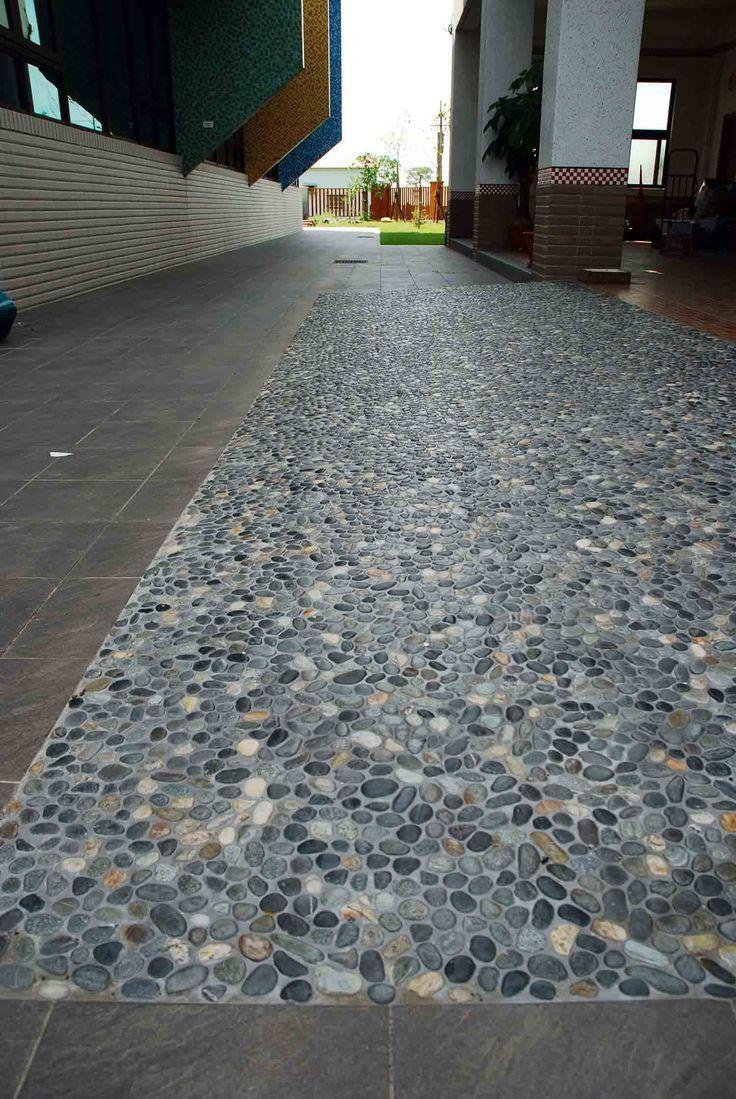 Natural Earth Pebble Tile Soapstone Tile Border Shower Floors Rugs Pinterest Natural