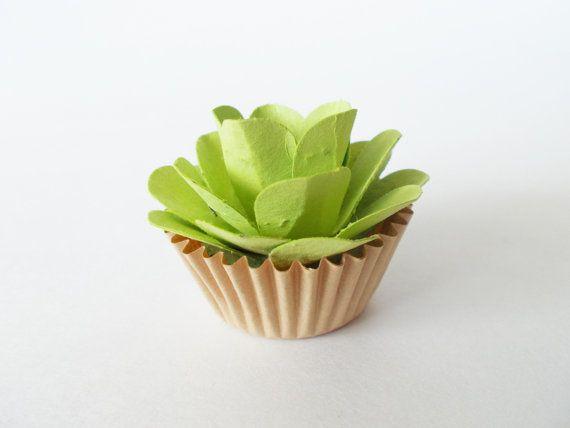 Plantable Seed Paper Cupcake Favors  12 Spring by SeedPaperSweets