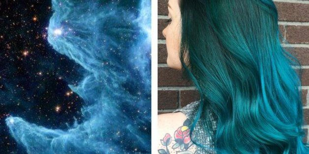 This Space Inspired Galaxy Hair Is Seriously Stunning