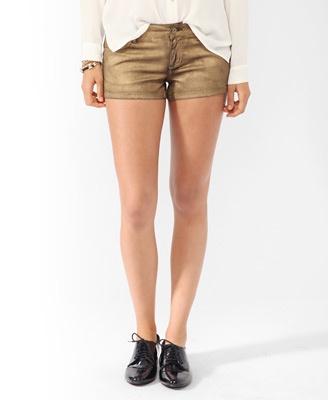 goldfarbene Shorts   Forever21