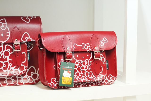 Hello Kitty Zatchels collaboration via I Want You To Know