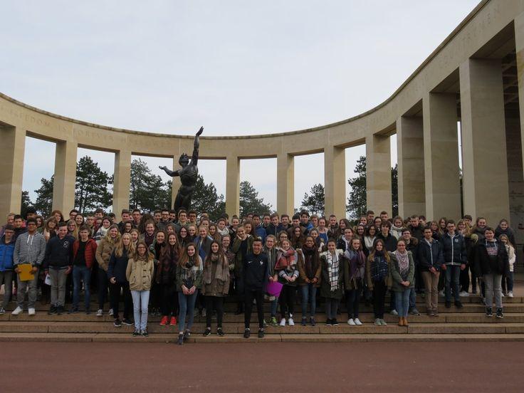 Les Troisièmes du Sacré Coeur sur les traces de la Seconde Guerre mondiale en Normandie. - Actualités du collège - Collège Sacré-Cœur - Evron