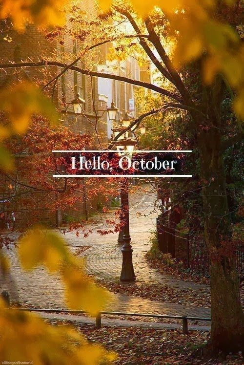 """""""Listen!  The wind is rising, and the air is wild with leaves, We have had our summer evenings, Now for October eves."""" ~Humbert Wolfe  Hello, October, We've been waiting for you! :)"""