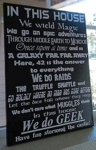 In this house... we do geek.