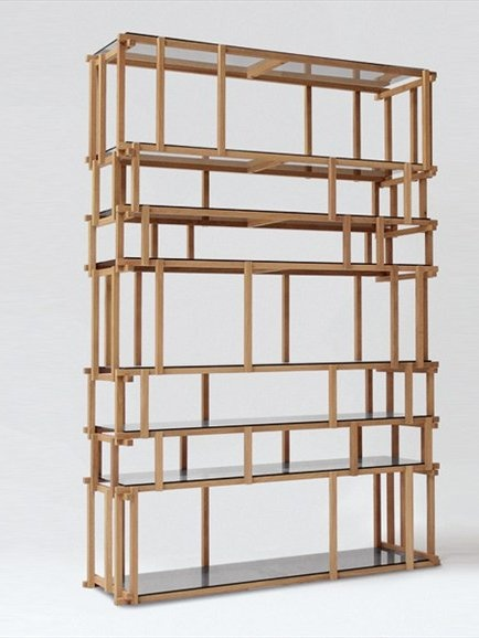 Divider wooden bookcase OFF CUT by @Louise Cote Cote living Divani | #Design Nathan Yong #wood #book