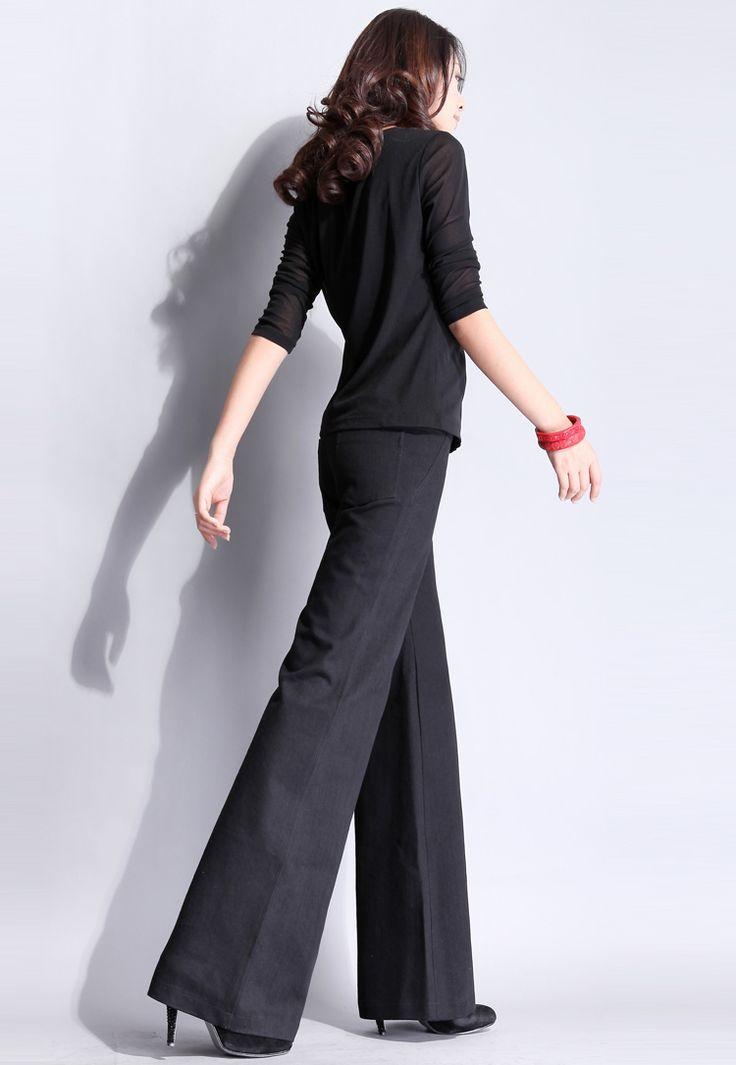 la primavera de big horn dril de algodón pantalones ol suelta de la moda pantalones pantalones de mujer