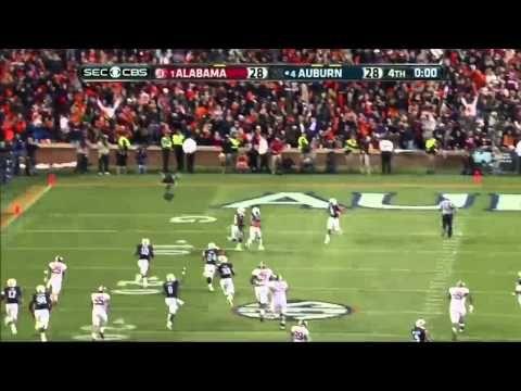Auburn defeats Alabama - Chris Davis returns missed field goal 100+ yards for winning TD - Iron Bowl