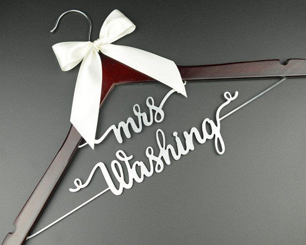 Personalized Wedding Hanger, Custom Bridal Hanger, Bride or Bridesmaid Name Hanger, Wedding Gift EL025