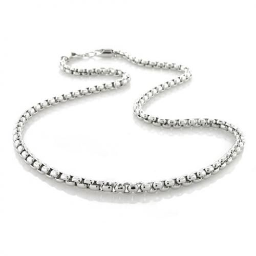 Silver Plated Link Chain 300 Gauge Box Necklace 16in 18in 20in 24in 30in
