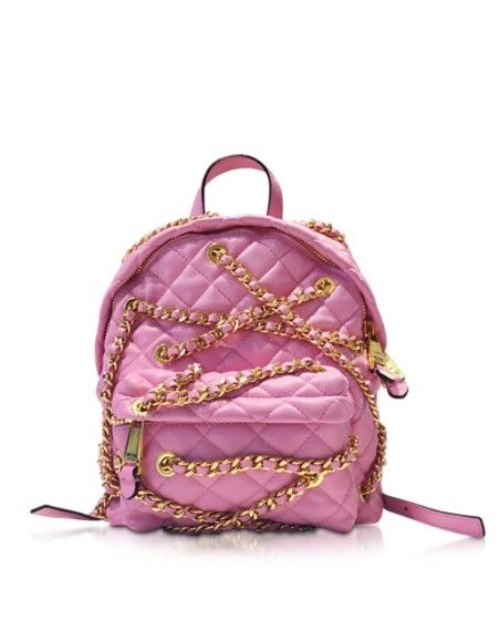 MOSCHINO QUILTED ECO LEATHER CHAINS BACKPACK