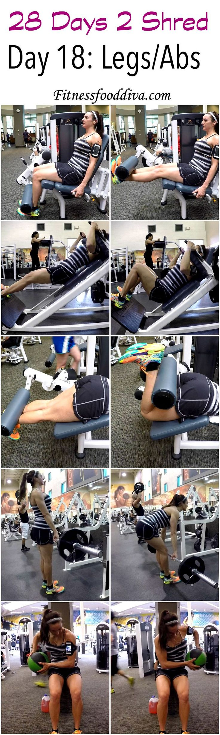 Day 18: Legs/Abs workout/video