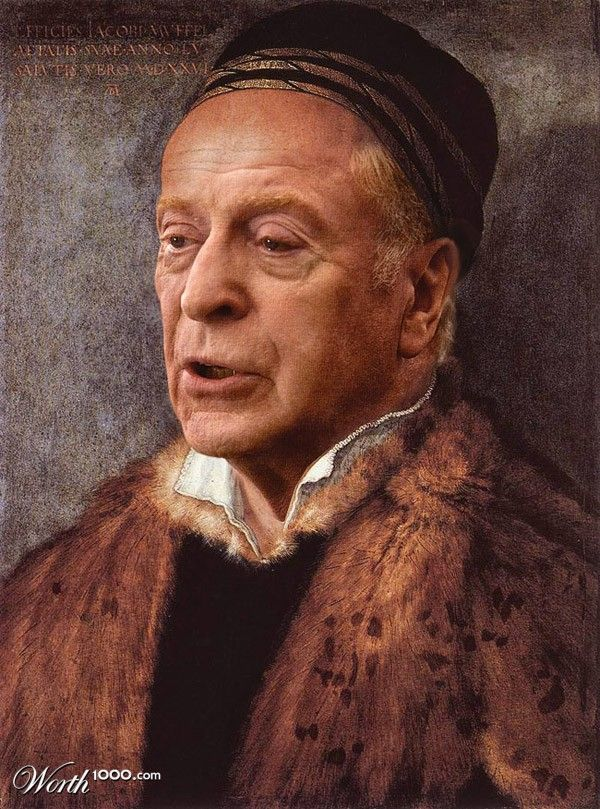 Michael Cain (Celebrities edited into classic works of art)
