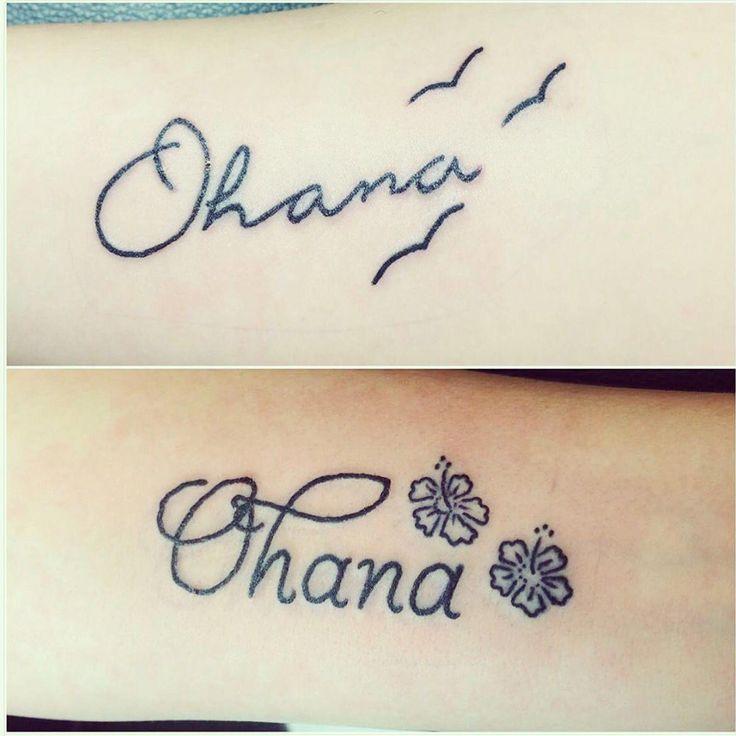 Ohana tattoos ohana tattoo tattoos disney lilo stitch sisters family #Hawaiiantattoos –  – #smalltattoos