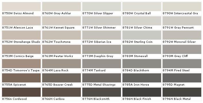 45 best paint colors images on Pinterest House paint colors, Paint - sample general color chart