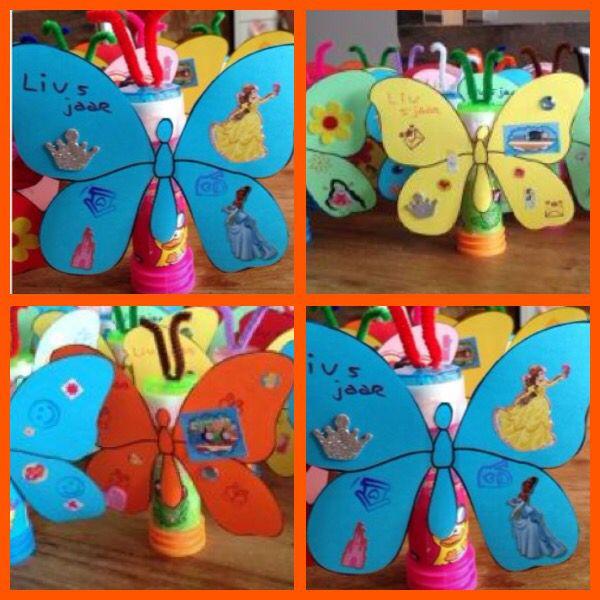 Bellenblaas als vlinder