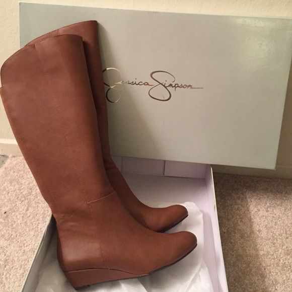 """New Jessica Simpson Brown Wedge Boot Bafford Brand new in box Jessica Simpson boots - """"Bafford"""" style. Size 6.5, brown. Retails for $120. Jessica Simpson Shoes Winter & Rain Boots"""