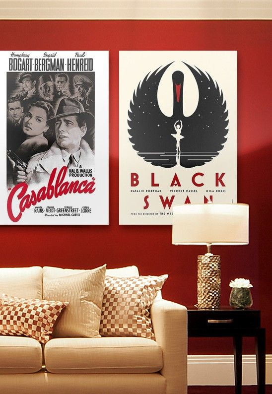 Love this combination of two of my favorite Academy Award winning movies. So chic. Now to go watch them.
