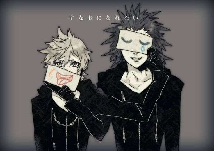 Axel and Roxas. Kingdom Hearts.  Credits to the artist
