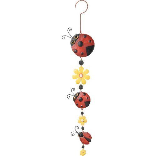 Triple Hanging Decor Ladybug - Regal Art #5139 by Regal Art and Gift. $17.97. Use Of Richly Colored Automobile Paint Creates Quality, Durable Finish.. Triple the fun with this versatile hanging adornment. Extensive Handcrafting Is Put Into Each Piece.. Mix And Match Items In Same Or Different Themes.. This Triple Hanging Decor Ladybug - Regal Art #5139 will look great hanging fron your porch, in a window with a suction cup or anywhere that needs a little pizzaz or color. H...