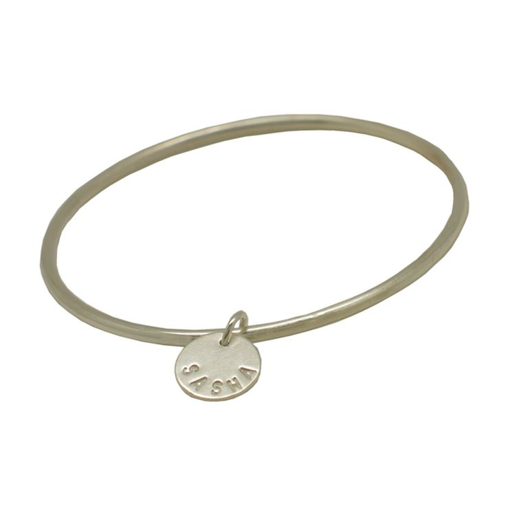 Bangle with Personalised Disc
