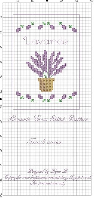 Happiness is Cross Stitching : Freebie Friday - Lavender Cross Stitch pattern and a revived pattern from 2010