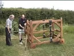 A replica springald built by us for Jersey Heritage trust. http://www.youtube.com/watch?v=s4qQreFFniY