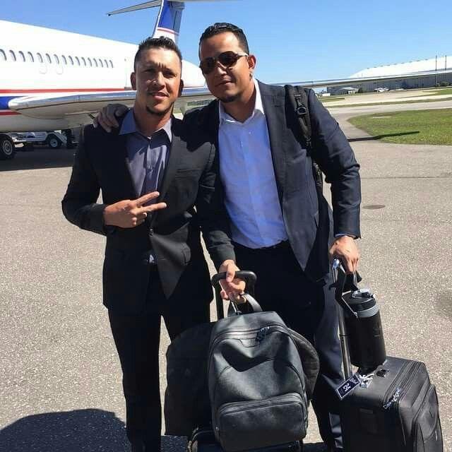 Miggy and Hernan Perez