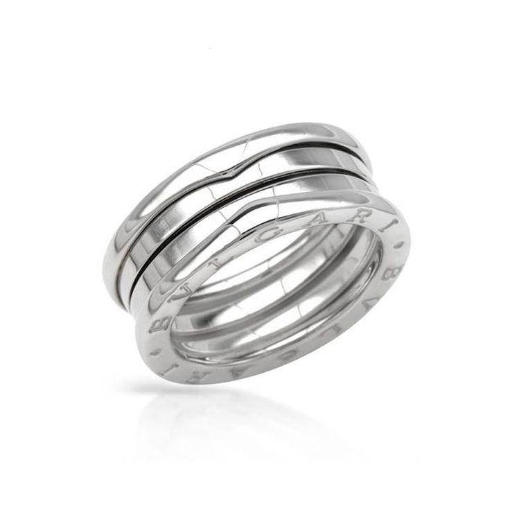bvlgari bzero1 3band ring in 18kt white gold size 56